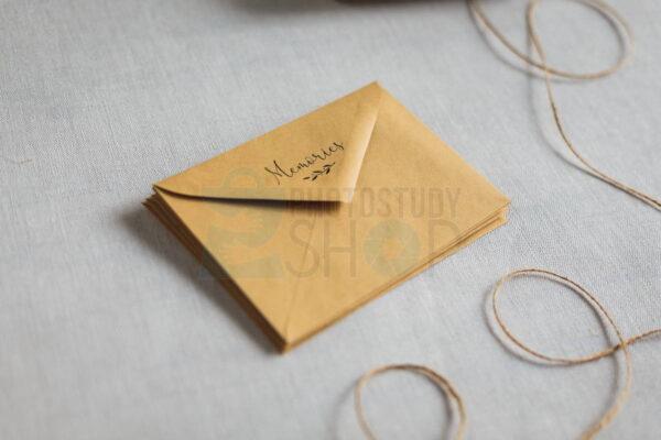 Треугольный конверт для фото с логотипом