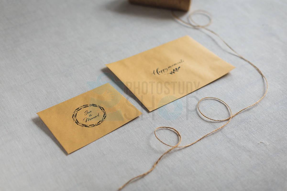 Бюджетные конверты для фото с логотипом