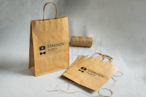 Крафтовый пакет с логотипом для фотографа