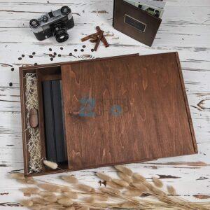 Деревянная коробка для книг Вид 1