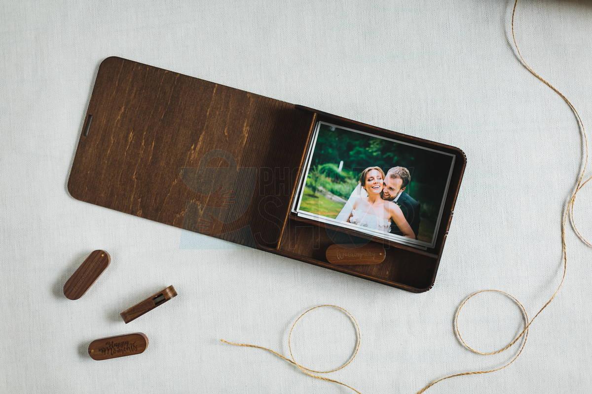 Деревянная коробка для фото Elipse