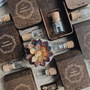 Деревянная коробка для флешки вид 5