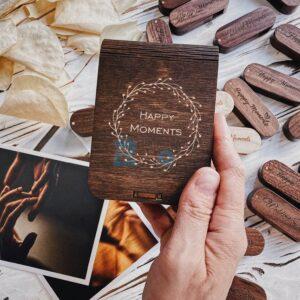 Деревянная коробка для флешки вид 1